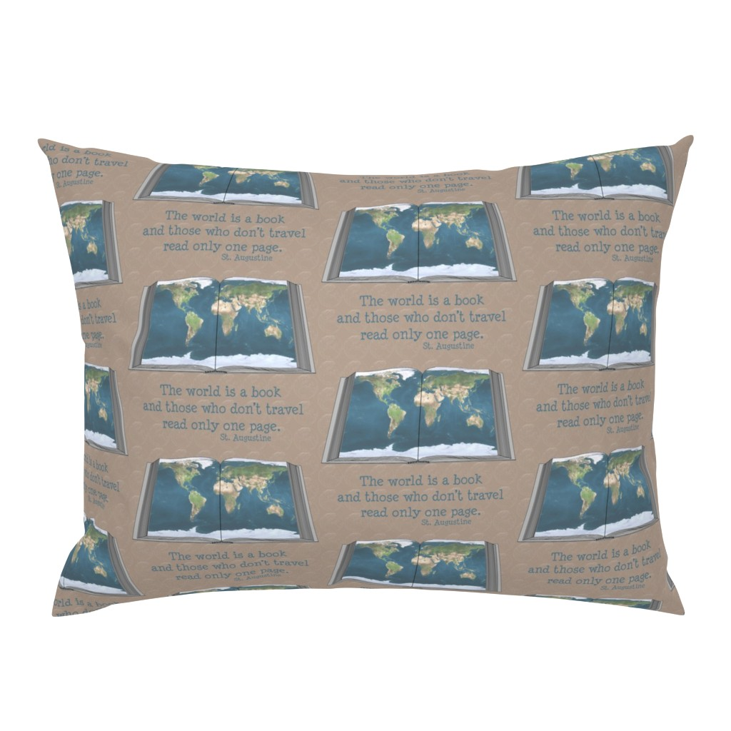 Campine Pillow Sham featuring the_world_is_a_book by four_flowers_designs