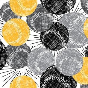 Baseballs - Black / Yellow