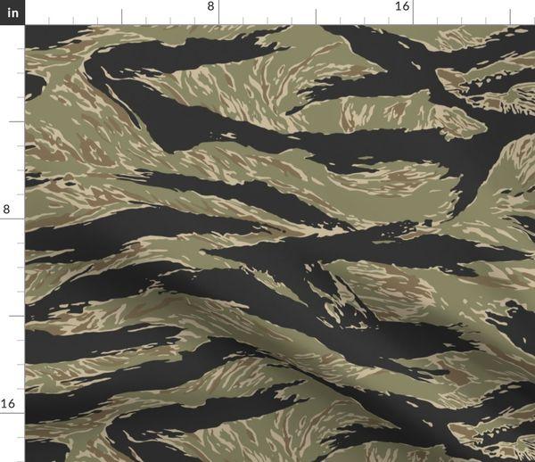 Fabric By The Yard Vietnam Tiger Stripe Camo