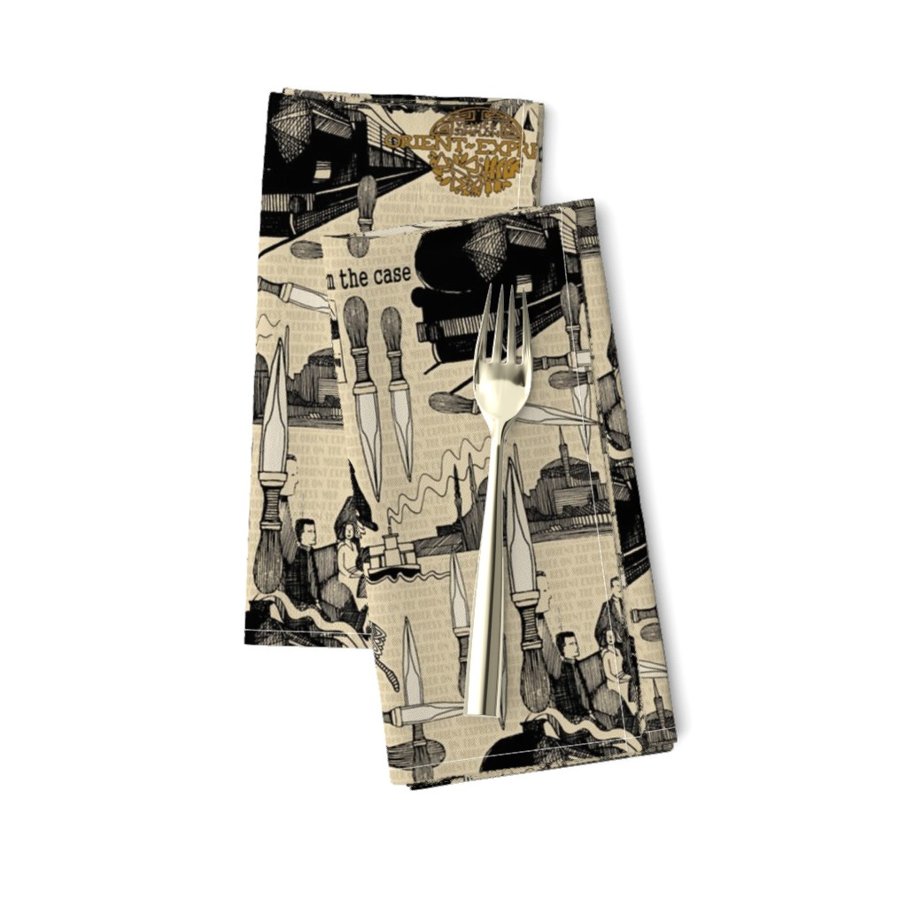 Amarela Dinner Napkins featuring Murder on the Orient Express (Agatha Christie) by scrummy
