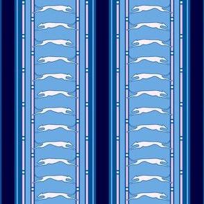 Running Greyhound Stripe pink and blue  © 2012 by Jane Walker