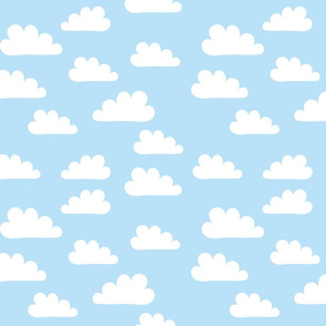 White Clouds on Soft Blue