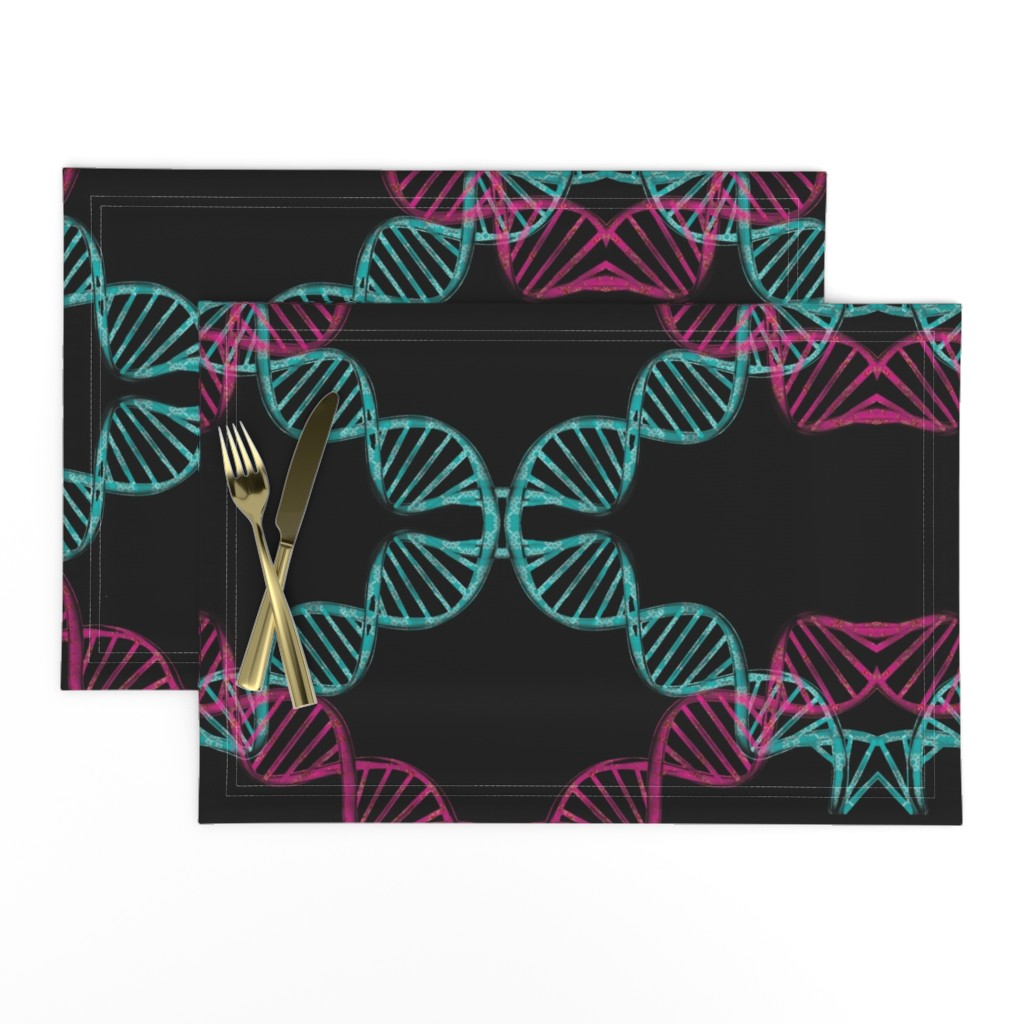 Lamona Cloth Placemats featuring dna_candy by snork
