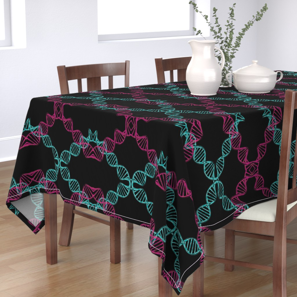 Bantam Rectangular Tablecloth featuring dna_candy by snork