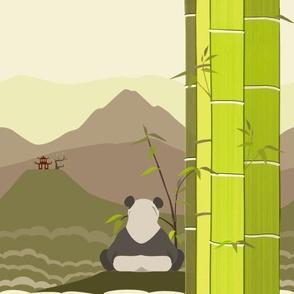 Panda Bear Landscape - Boba Contest Final