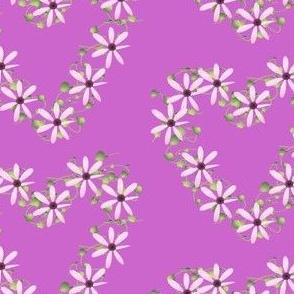 pink flower hearts