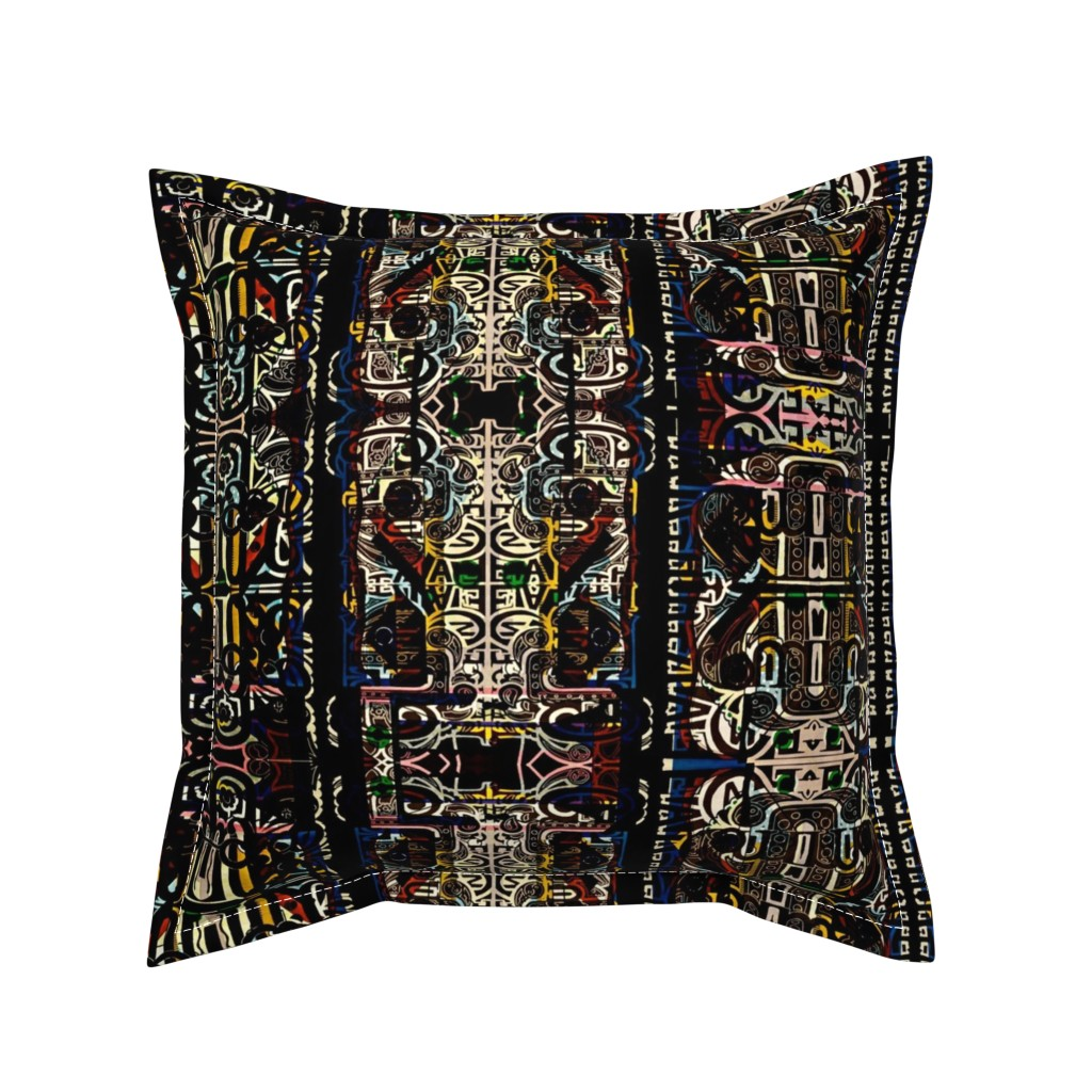 Serama Throw Pillow featuring Prayer Stripes by whimzwhirled