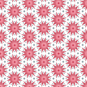 Rose Chintz Stars