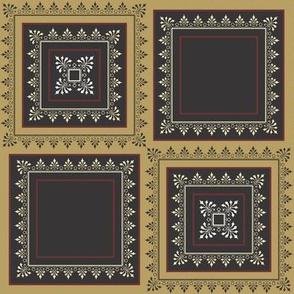 Floral Pattern Browns