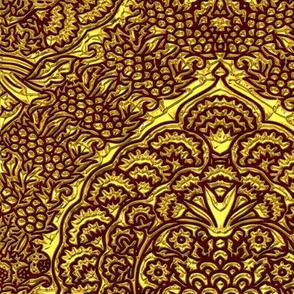 Queen Margareta's Golden Gown Brocade Imitation