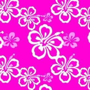 Purple Hawaiian Flowers Pattern
