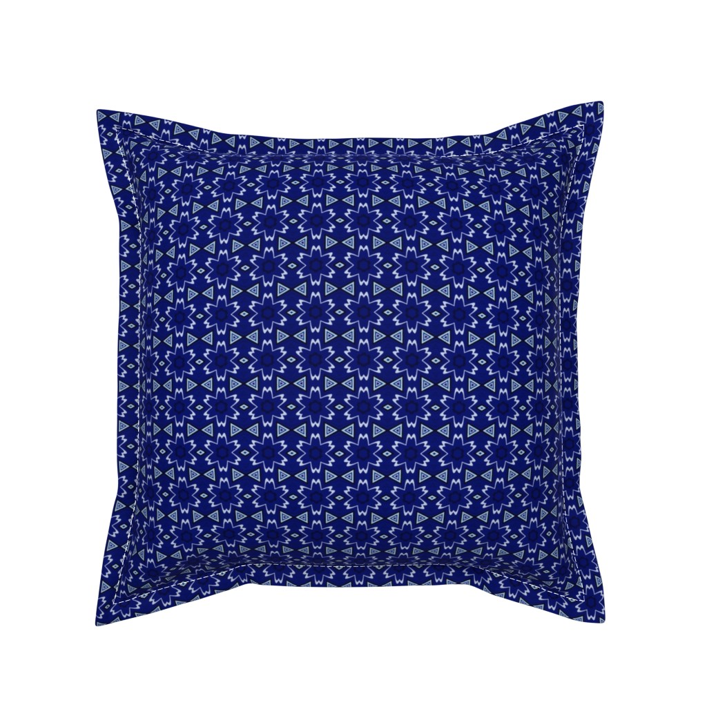 Serama Throw Pillow featuring Navy Digital Flowers © Gingezel™ 2013 by gingezel