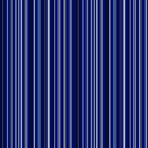 Navy With White and Blue Stripes © Gingezel™ 2013