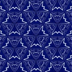 Navy Blue and White Geometric © Gingezel™ 2014