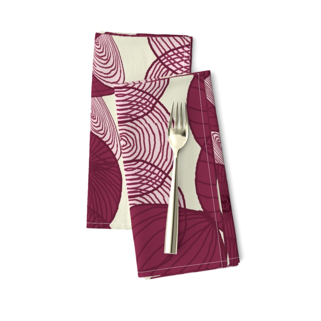 Amarela Dinner Napkins featuring red_onion_stripe by lfntextiles