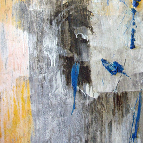 Blue Bird of Happiness - large and abstract