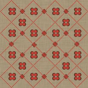 Dot flower tile