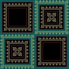 Victorian Floral Pattern Rich Colours