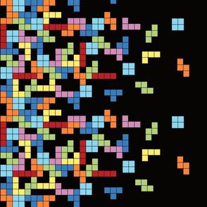 Tetris Border Print
