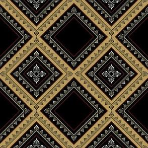 Victorian Floral Pattern Browns Diagonal