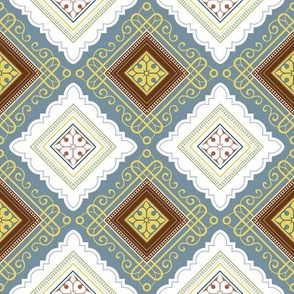 Victorian Pattern Light and Wavy Diagonal
