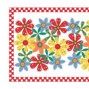 Colorful Floral Tea Towel