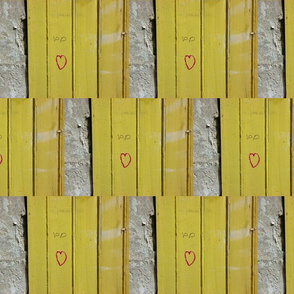 Love on a Mustard Door