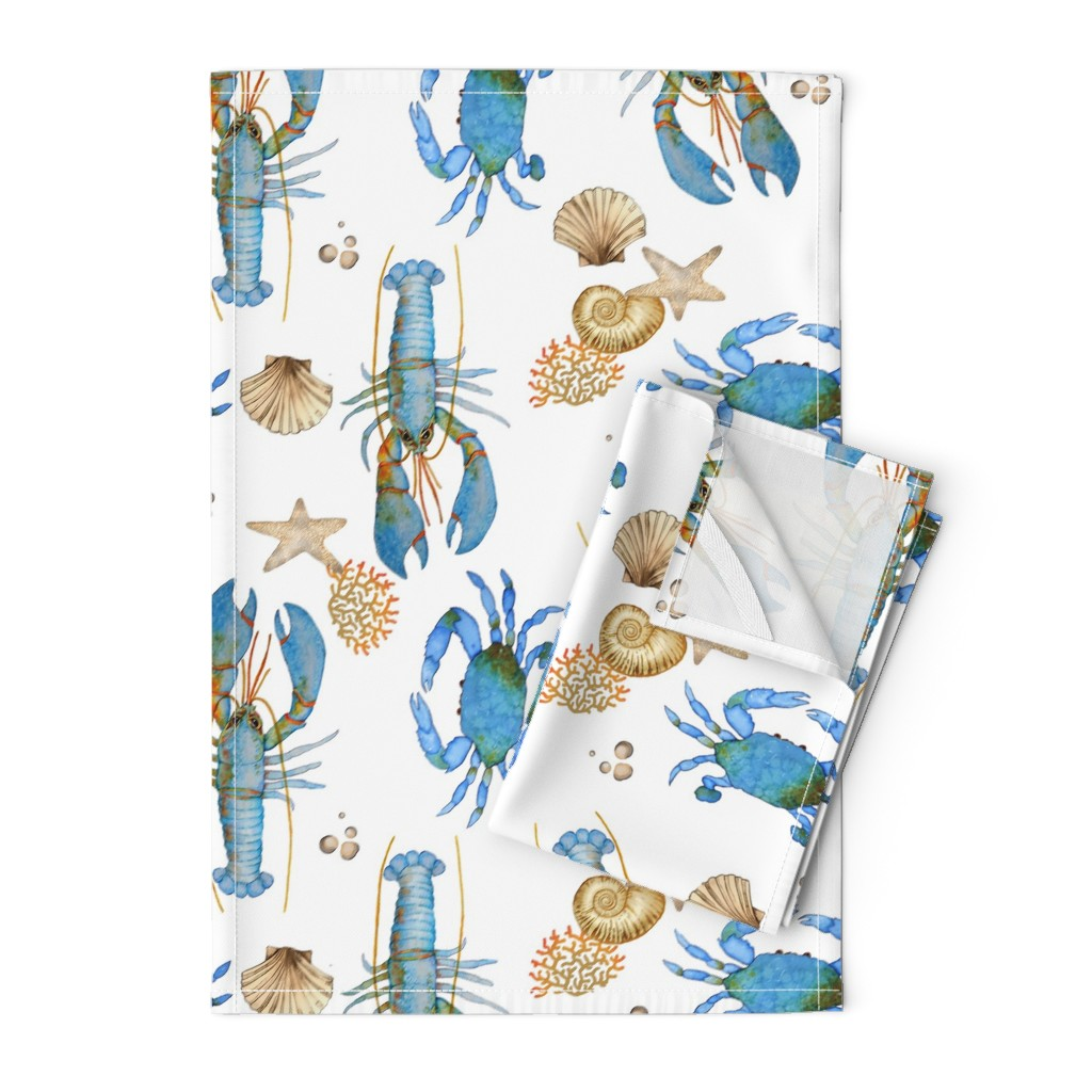 Orpington Tea Towels featuring Lobster and Crab  Bisque by golders