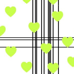 neon heart burst lime black