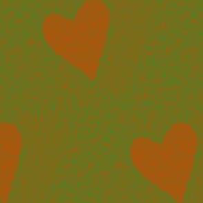 heart electric - orange & green