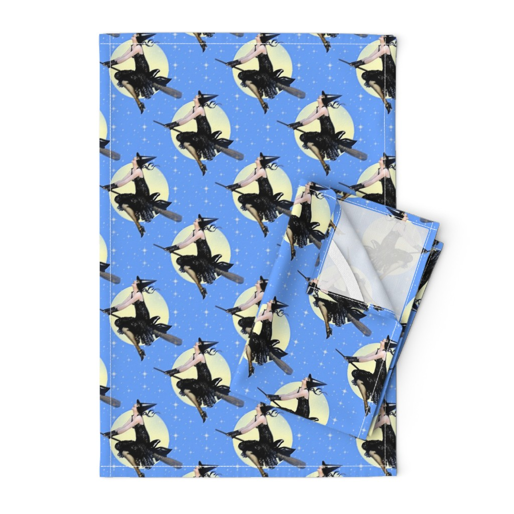 Orpington Tea Towels featuring Modern Witch by mandamacabre
