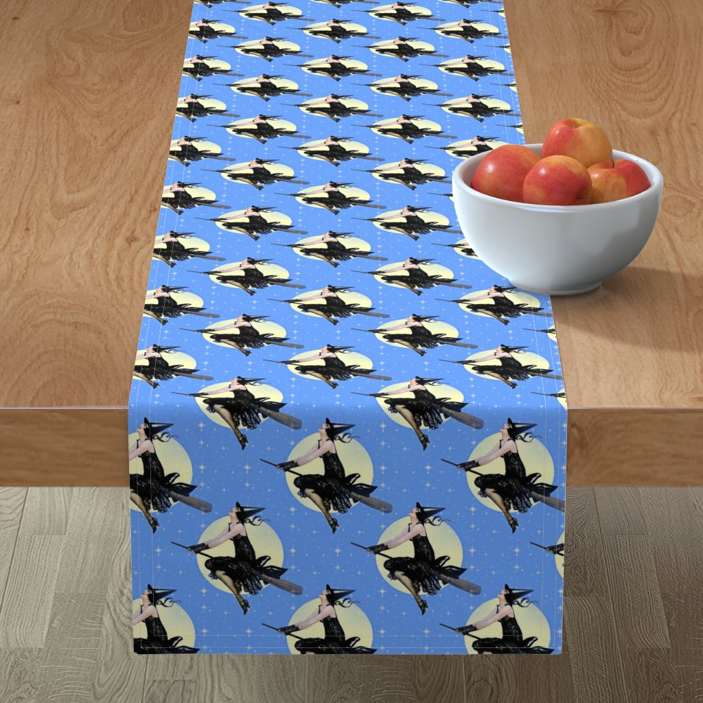 Minorca Table Runner featuring Modern Witch by mandamacabre