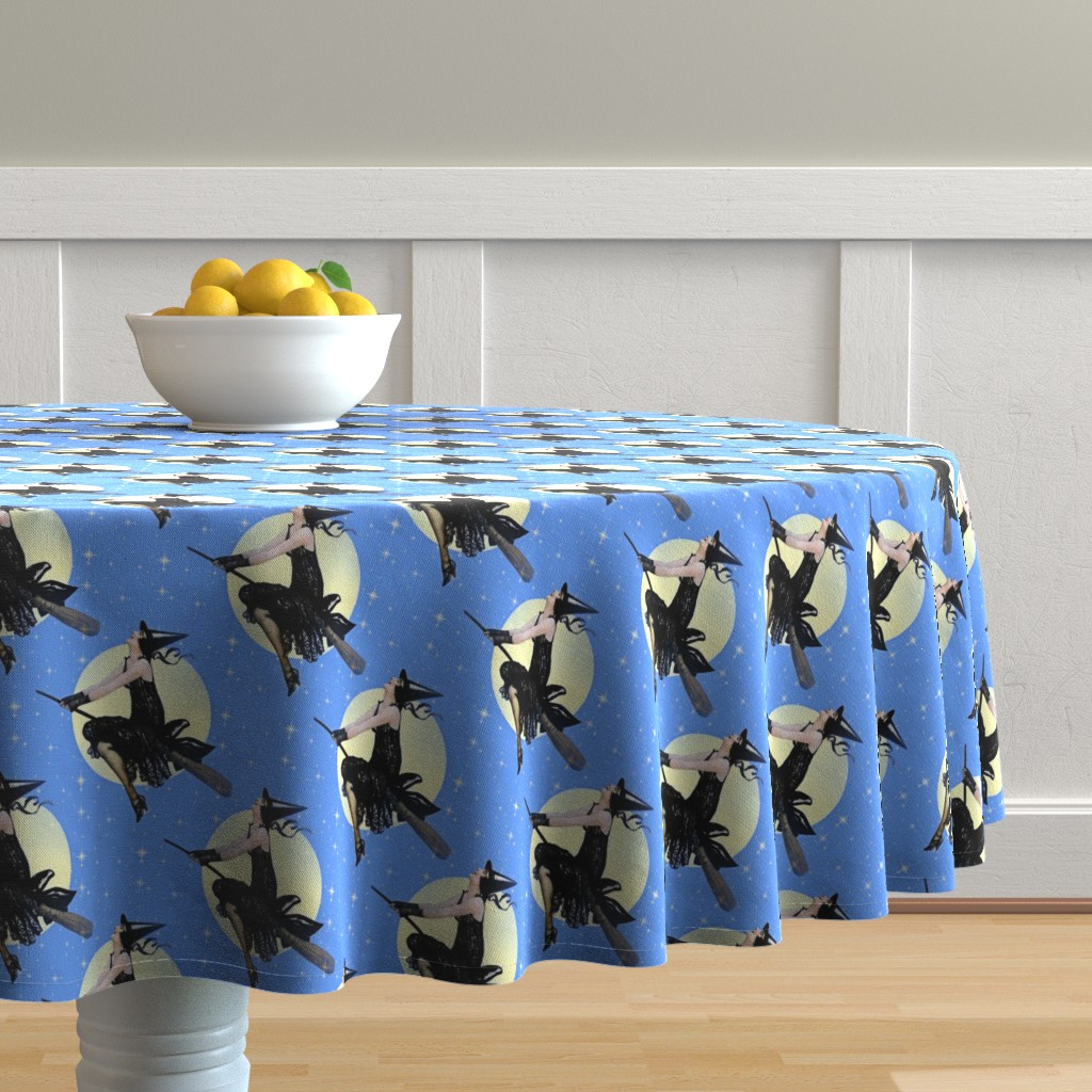 Malay Round Tablecloth featuring Modern Witch by mandamacabre