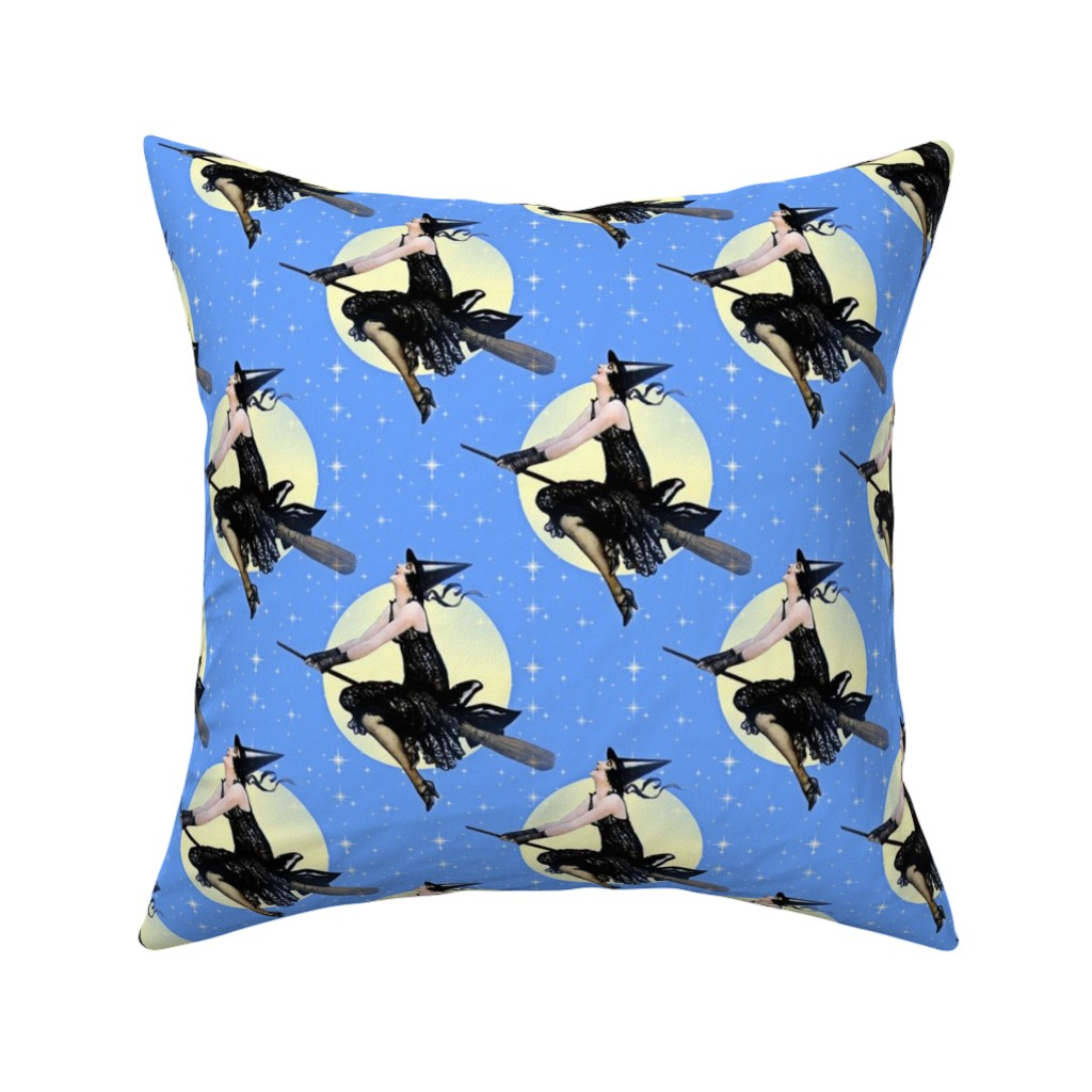 Catalan Throw Pillow featuring Modern Witch by mandamacabre