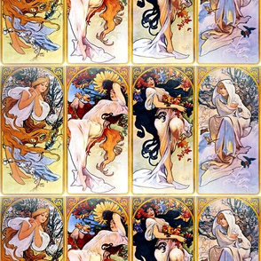 Alfons Mucha Four Seasons