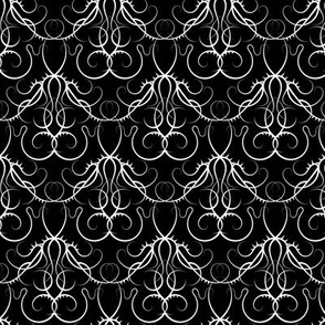 gothic scrolls - black and white