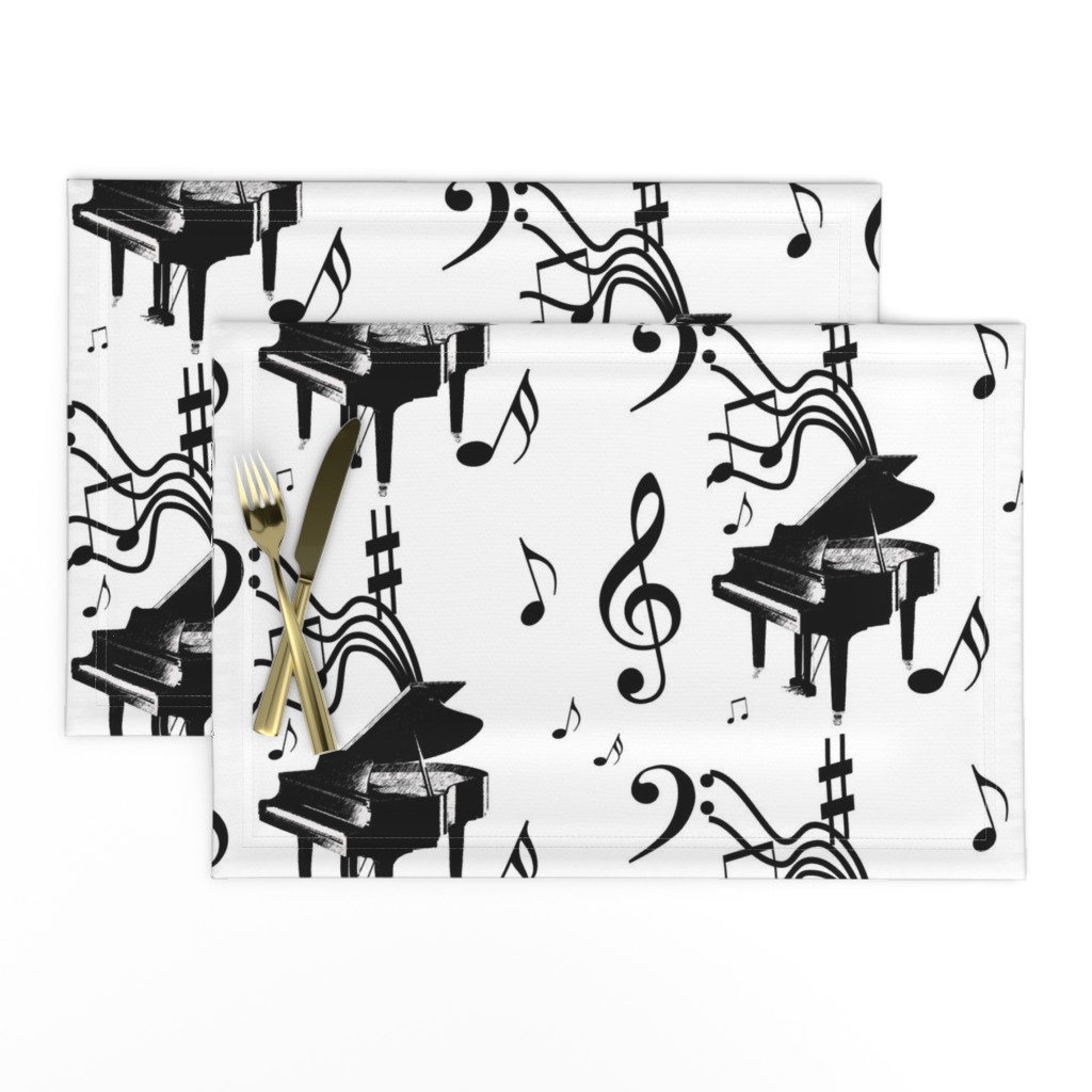 Lamona Cloth Placemats featuring Piano Music by leahvanlutz