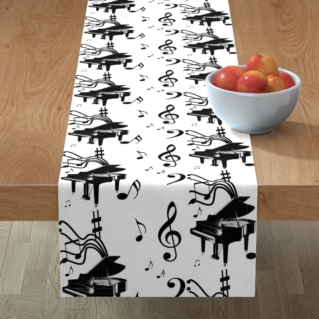 Minorca Table Runner featuring Piano Music by leahvanlutz