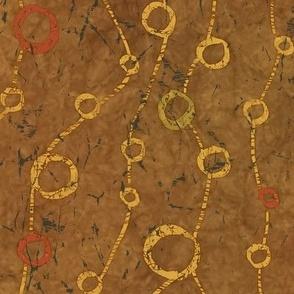 Ringed Paths Batik