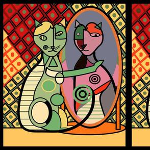 Picasso's Cat Fat Quarter