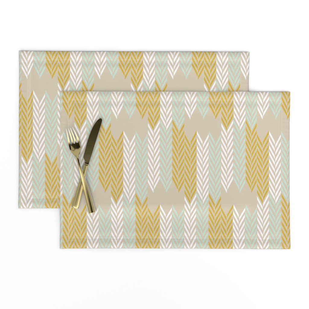 Lamona Cloth Placemats featuring WheatField Weave by mrshervi