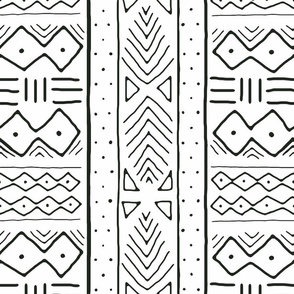 Mudcloth in black on white