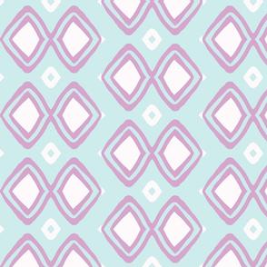Diamonds!! (lt. Aqua, white  + lilac)