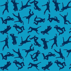 jumping blue