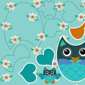 Aqua Owl Cut-and-Sew Kit