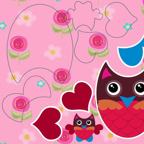 Pink Owl Cut-and-Sew Kit