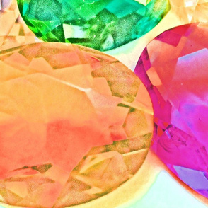 Large Jewels Pink Green Yellow