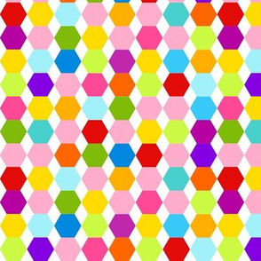 Multi Colour Hexagons