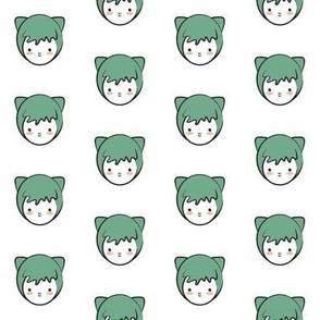 Green Girl Pattern