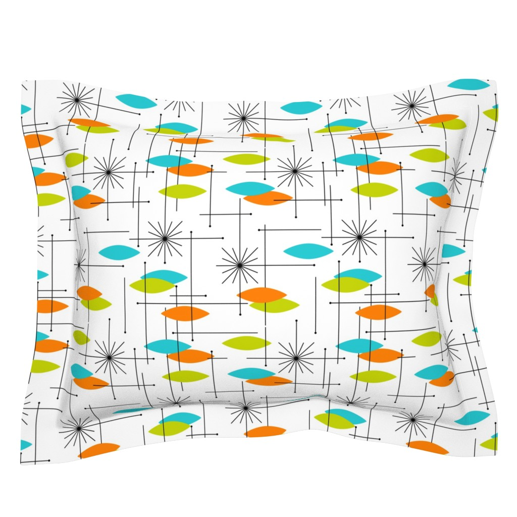 Sebright Pillow Sham featuring Orbs #2 (large) by tonyanewton